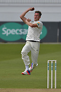 Jake Ball coiled ready for delivery during the Specsavers County Champ Div 1 match between Nottinghamshire County Cricket Club and Durham County Cricket Club at Trent Bridge, West Bridgford, United Kingdom on 29 May 2016. Photo by Simon Trafford.