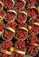 strawberries in a french market - photograph by Owen Franken