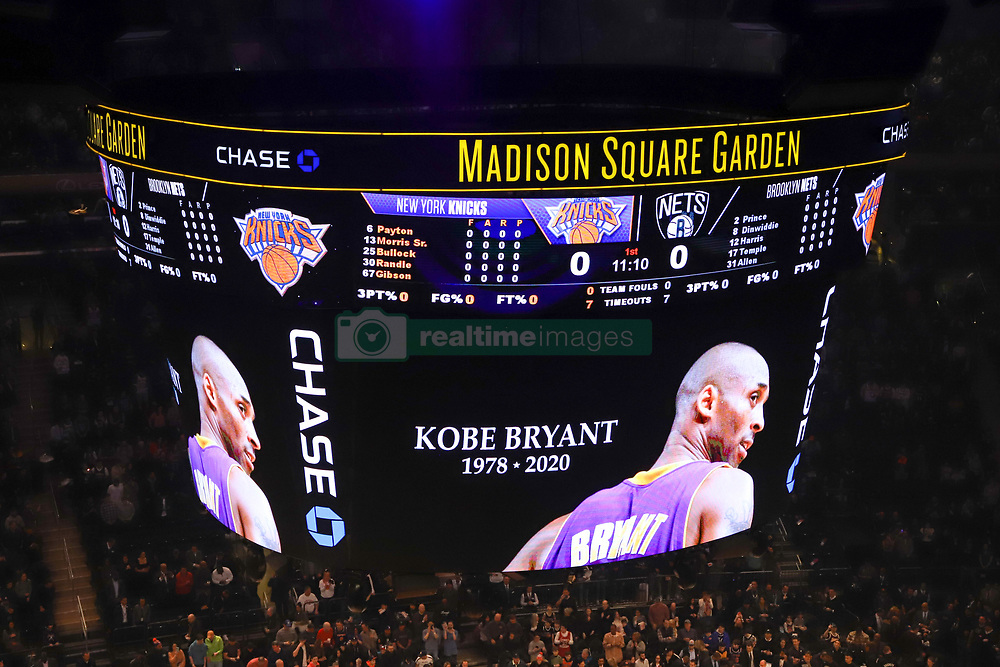 January 26, 2020, New York, New York, United States: A moment of silence is held for NBA Legend, Kobe Braynt before the game between the New York Knicks and the Brooklyn Nets on January 26, 2020 at Madison Square Garden in New York City (Credit Image: © Vanessa Carvalho/ZUMA Wire)