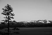 View of Mt Rose across Lake Tahoe