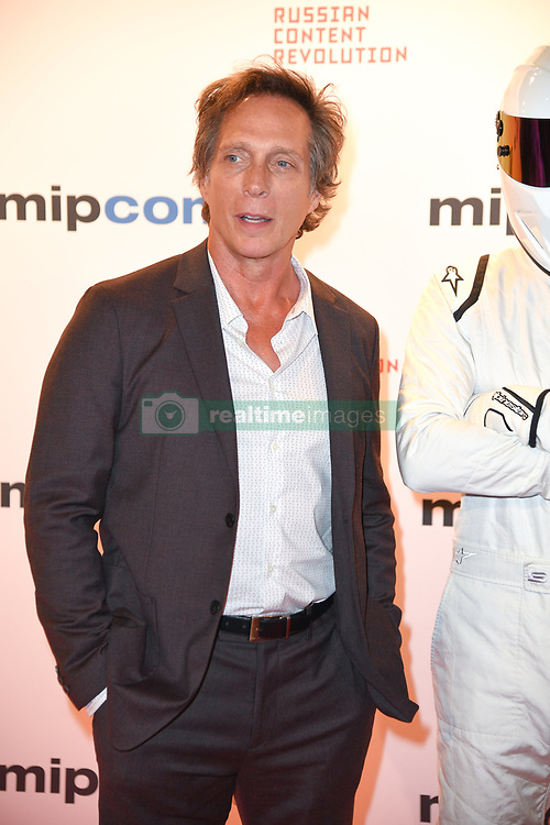 William Fichtner, Tom Ford poses as arriving for the opening ceremony of the MIPCOM in Cannes - Marche international des contenus audiovisuels du 16-19 Octobre 2017, Palais des Festivals, Cannes, France.<br />