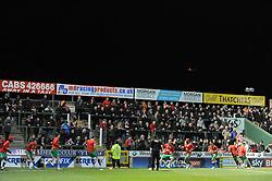 Bristol City fans at Huish Park - Photo mandatory by-line: Dougie Allward/JMP - Mobile: 07966 386802 - 10/03/2015 - SPORT - Football - Yeovil - Huish Park - Yeovil Town v Bristol City - Sky Bet League One