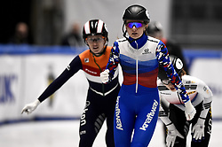 February 9, 2019 - Torino, Italia - Foto LaPresse/Nicolò Campo .9/02/2019 Torino (Italia) .Sport.ISU World Cup Short Track Torino - Ladies 1500 meters Final B .Nella foto: Ekaterina Efremenkova esulta..Photo LaPresse/Nicolò Campo .February 9, 2019 Turin (Italy) .Sport.ISU World Cup Short Track Turin - Ladies 1500 meters Final B.In the picture: Ekaterina Efremenkova celebrates (Credit Image: © Nicolò Campo/Lapresse via ZUMA Press)
