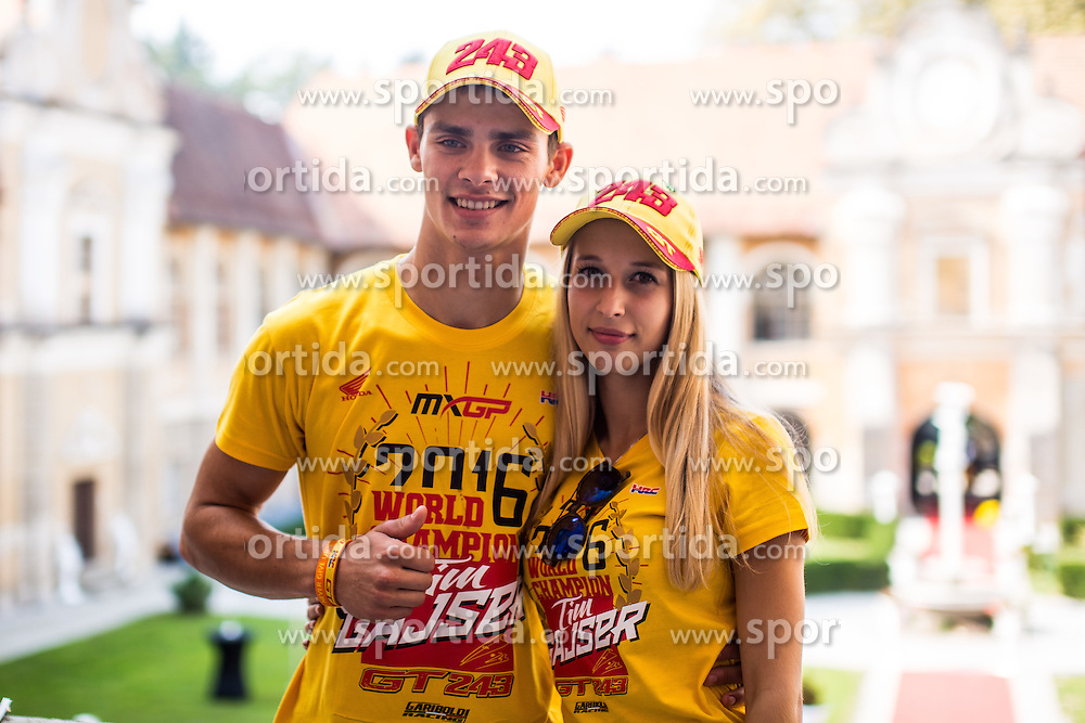 Tim Gajser during his reception with his girlfirend for winning 2016 world championship in MXGP , Mansion Statenberg, Makole, Slovenia. Photo by Grega Valancic / Sportida