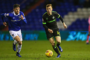 Forest Green Rovers Nathan McGinley(19) runs forward during the EFL Sky Bet League 2 match between Oldham Athletic and Forest Green Rovers at Boundary Park, Oldham, England on 12 January 2019.