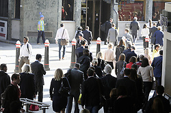 © Licensed to London News Pictures. 24/04/2013.A sunny commute this morning (24.04.2013) for commuters arriving at Cannon Street, London..Photo credit : Grant Falvey/LNP