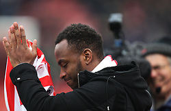 New Stoke City signing Saido Berahino is unveiled before the match - Mandatory by-line: Jack Phillips/JMP - 21/01/2017 - FOOTBALL - Bet365 Stadium - Stoke-on-Trent, England - Stoke City v Manchester United - Premier League