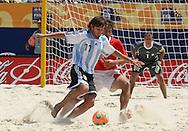 Footbal-FIFA Beach Soccer World Cup 2006 -  Quarter Final-ARG xURU -Baca -Rio de Janeiro- Brazil - 09/11/2006.<br />Mandatory Credit: FIFA/Ricardo Ayres