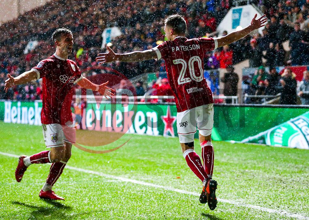 Jamie Paterson of Bristol City celebrates with Joe Bryan after scoring a goal to make it 1-0 - Rogan/JMP - 26/12/2017 - Ashton Gate Stadium - Bristol, England - Bristol City v Reading - Sky Bet Championship.