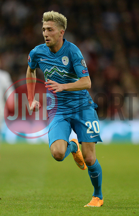 Kevin Kampl of Slovenia  - Photo mandatory by-line: Alex James/JMP - Mobile: 07966 386802 - 15/11/2014 - SPORT - Football - London - Wembley - England v Slovenia - EURO 2016 Qualifier