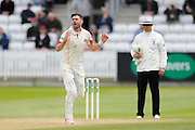 Lancashire's James Anderson during the Specsavers County Champ Div 1 match between Somerset County Cricket Club and Lancashire County Cricket Club at the County Ground, Taunton, United Kingdom on 3 May 2016. Photo by Graham Hunt.