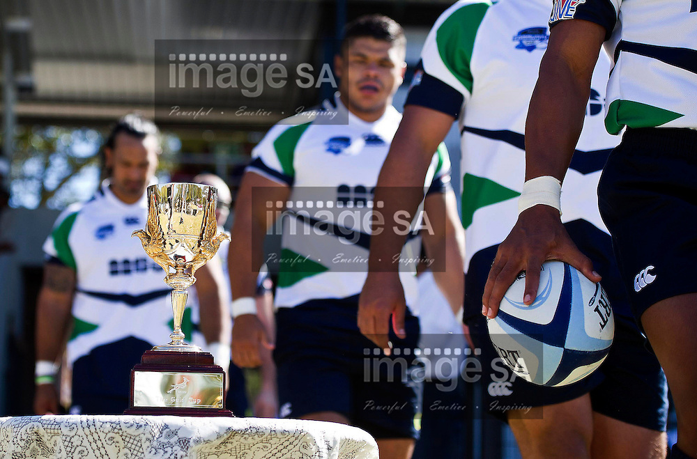 CAPE TOWN, SOUTH AFRICA - FEBRUARY 23 2013,The Community Cup on display during match 10 of the Cell C Community Cup rugby match between SK Walmers and Villagers Worcester held at the Green Point Track, Cape Town in the Western Cape Province..Photo by ImageSA