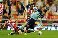Football - Capital One Cup fourth round - Sunderland vs. Middlesbrough<br /> David Vaughan (Sunderland) and Emmanuel Ledesma (Middlesbrough) at the Stadium of Light