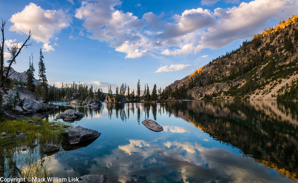 Imogene a classic high mountain lake in the Sawtooth Wilderness.