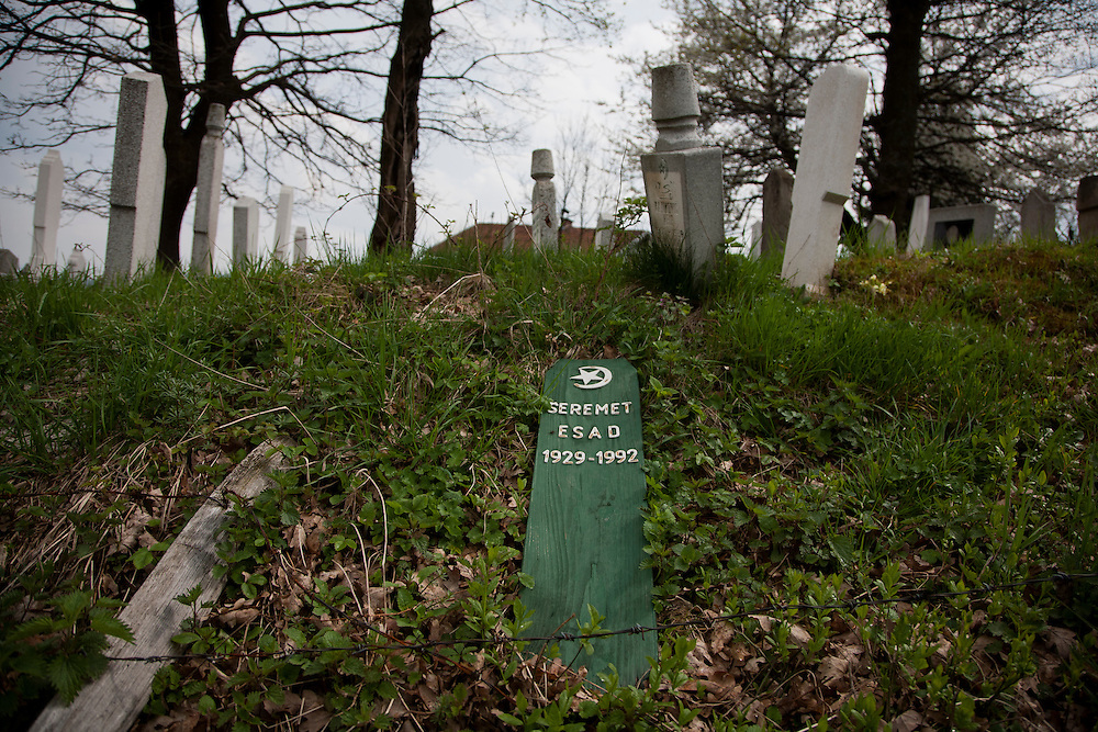 An old Muslim cemetary on the hill above Travnik.