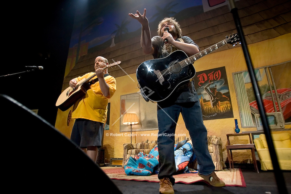 Jack Black, right, and  Kyle Gass of Tenacious D perform at Madison Square Garden Dec. 1, 2006.