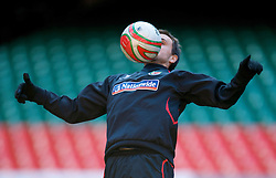 CARDIFF, WALES - Thursday, March 26, 2009: Wales' Carl Fletcher during training at the Millennium Stadium ahead of the 2010 FIFA World Cup Qualifying Group 4 match against Finland. (Pic by David Rawcliffe/Propaganda)