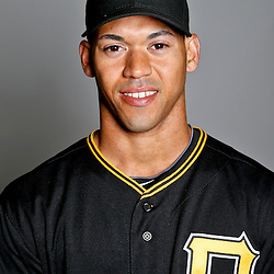 February 17, 2013; Bradenton, FL, USA;  Pittsburgh Pirates Ivan De Jesus Jr. (66) poses for photo day at Pirate City.  Mandatory Credit: Derick E. Hingle-USA TODAY Sports