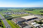 Nederland, Gelderland, Gemeente Neder-Betuwe, 30-09-2015; Heteren, Poort van Midden Gelderland. Distributiecentrum van de Kruidvat drogisterijketen.<br /> Distribution centre drugstore chain.<br /> luchtfoto (toeslag op standard tarieven);<br /> aerial photo (additional fee required);<br /> copyright foto/photo Siebe Swart