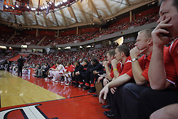 09 January 2010: Illinois State Redbird bench. The Panthers of Northern Iowa topple the Redbirds of Illinois State 59-44 on Doug Collins Court inside Redbird Arena at Normal Illinois.