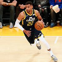 10 October 2017: Utah Jazz forward Thabo Sefolosha (22) drives during the Utah Jazz 105-99 victory over the LA Lakers, at the Staples Center, Los Angeles, California, USA.