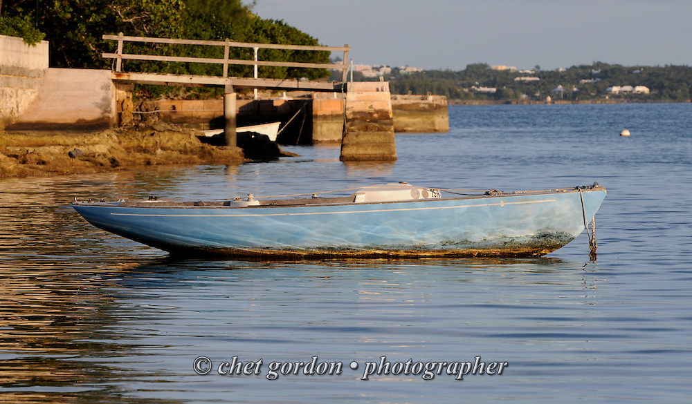 An abandoned sailboat moored in Sandy's Parish, Bermuda on Wednesday, September 19, 2012.