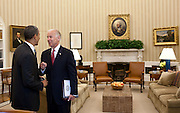 05.JUNE.2012. WASHINGTON D.C.<br /> <br /> PRESIDENT BARACK OBAMA TALKS WITH VICE PRESIDENT JOE BIDEN IN THE OVAL OFFICE, JUNE 5, 2012.  <br /> <br /> BYLINE: EDBIMAGEARCHIVE.CO.UK<br /> <br /> *THIS IMAGE IS STRICTLY FOR UK NEWSPAPERS AND MAGAZINES ONLY*<br /> *FOR WORLD WIDE SALES AND WEB USE PLEASE CONTACT EDBIMAGEARCHIVE - 0208 954 5968*