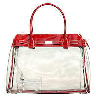 white and red waterproof purse