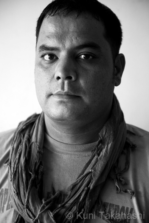 Enaamuddin, 31, oil facility worker contracted with NATO in Kabul, Afghanistan on Aug 14, 2011.(Photo by Kuni Takahashi)