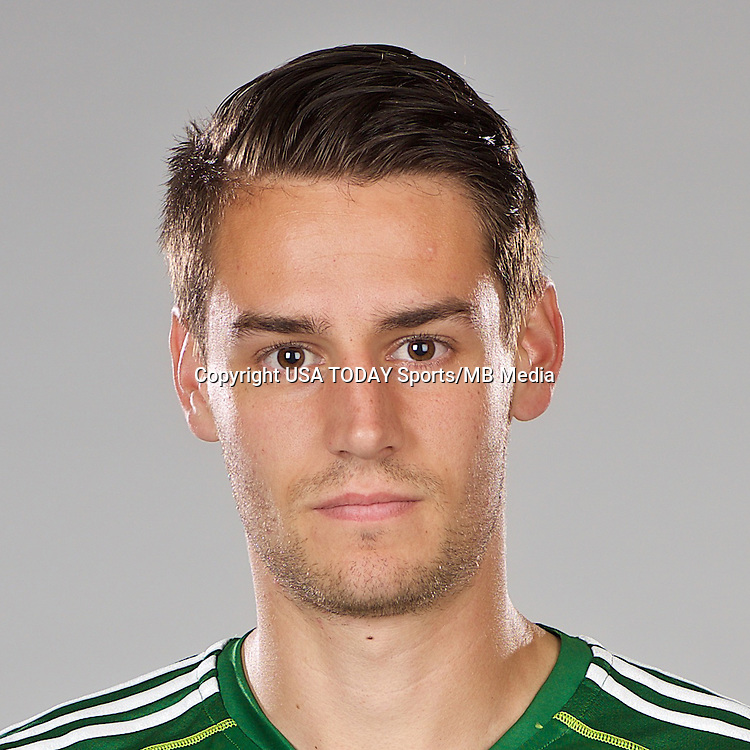 Feb 25, 2016; USA; Portland Timbers player Andy Thoma poses for a photo. Mandatory Credit: USA TODAY Sports