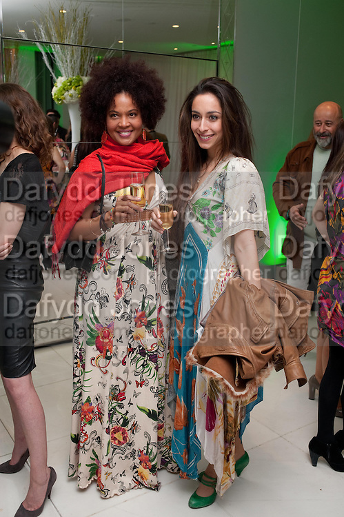 AMA AMARILIS; OONA CHAPLIN; ; , English National Ballet Beyond Ballets Russes at the London Coliseum opening night party at the St Martins Lane Hote, Londonl . 22 March 2012.