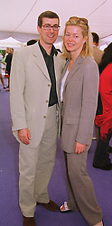 MR TIM & LADY HELEN TAYLOR at a polo match in Berkshire on 13th June 1999.MTD 75