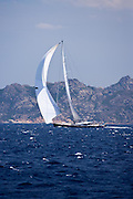 Saudade sailing in the Loro Piana Superyacht Regatta, day 1.