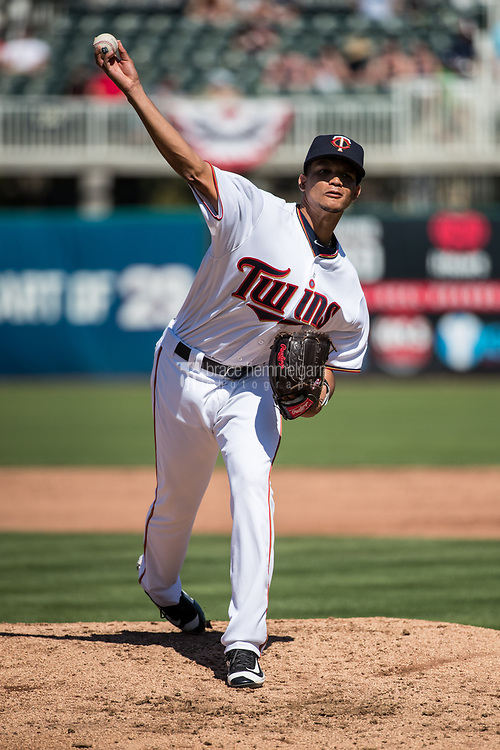 FORT MYERS, FL- FEBRUARY 26: Felix Jorge #76 of the Minnesota Twins pitches against the Washington Nationals on February 26, 2017 at Hammond Stadium in Fort Myers, Florida. (Photo by Brace Hemmelgarn) *** Local Caption *** Felix Jorge