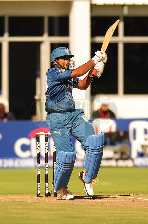 PORT ELIZABETH, SOUTH AFRICA - 2 May 2009.  Bilakhia hooks the ball during the  IPL Season 2 match between the Deccan chargers vs Rajasthan Royals held at St Georges Park in Port Elizabeth , South Africa.