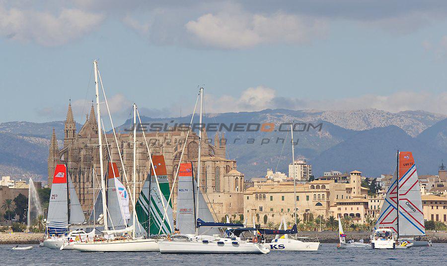 GLOBAL OCEAN RACE 2011-2012.Start of the race in Palma de Mallorca, september 25th 2011