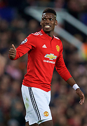 MANCHESTER, ENGLAND - Tuesday, March 13, 2018: Manchester United's Paul Pogba during the UEFA Champions League Round of 16 2nd leg match between Manchester United FC and Sevilla FC at Old Trafford. (Pic by David Rawcliffe/Propaganda)