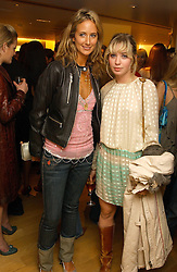 Left to right, LADY VICTORIA HERVEY and MISS ANOUSKA GERHAUSER daughter of Tamara Beckwith  at a party hosted by Burberry to launch their special collection in aid of Breakthrough Breast Cancer, held at 21-23 New Bond Street, London W1 on 5th October 2004.<br />