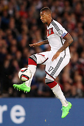 07.09.2015, Hampton Park, Glasgow, SCO, UEFA Euro Qualifikation, Schottland vs Deutschland, im Bild Jerome Boateng (FC Bayern Muenchen) // during the UEFA EURO 2016 qualifier group D match between Scotland and Germany at the Hampton Park in Glasgow, Scotland on 2015/09/07. EXPA Pictures &copy; 2015, PhotoCredit: EXPA/ Eibner-Pressefoto/ Schueler<br /> <br /> *****ATTENTION - OUT of GER*****