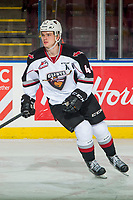 KELOWNA, BC - OCTOBER 03: Bowen Byram #44 of the Vancouver Giants warms up against the Kelowna Rockets  at Prospera Place on October 3, 2018 in Kelowna, Canada. (Photo by Marissa Baecker/Getty Images)