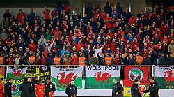 BAKU, AZERBAIJAN - Saturday, November 16, 2019: Wales supporters celebrate after the UEFA Euro 2020 Qualifying Group E match between Azerbaijan and Wales at the Bakcell Arena. Wales won 2-0. 2(Pic by David Rawcliffe/Propaganda)