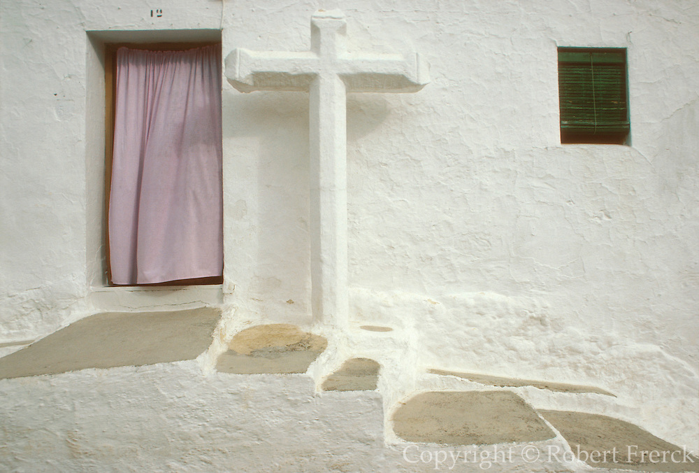 SPAIN, ANDALUSIA MONTEFRIO; a beautiful 'pueblo blanco' or white village with a station of the cross; east of Granada