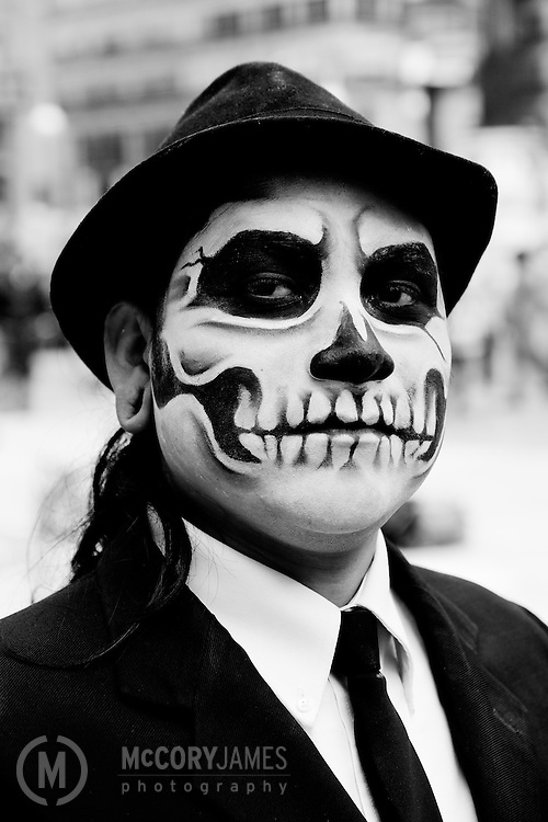 Dressed up for Dia de los Muertos
