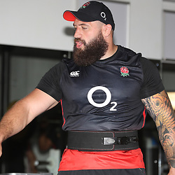 Joe Marler of England during the England Rugby strength work in the gym training session at Jonsson Kings Park Stadium,Durban.South Africa. 12,06,2018 Photo by (Steve Haag JMP)
