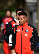 Japan players arrive at the Japan Training Session in preparation for the Rugby World Cup at Brighton College, Brighton & Hove, United Kingdom on 17 September 2015. Photo by David Charbit.