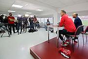 BOEKAREST - 19-08-15, Europa League, Astra GiurGiu - AZ, training, Persconferentie, AZ trainer John van den Brom.