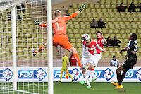 Goal Dimitar BERBATOV / Jonas LOSSL - 14.01.2015 - Monaco / Guingamp - 1/4Finale Coupe de la Ligue<br />Photo : Jean Christophe Magnenet / Icon Sport