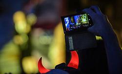 14.05.2015, Red Bull Ring, Spielberg, AUT, AC DC, Rock or Bust Tour, Spielberg, Konzert, im Bild Fans fotografieren während dem Auftritt der Kultband. Die australische Band AC/DC gastiert im Zuge ihrer Rock or Bust World Tour am 14. Mai in Spielberg // AC/DC perform on stage during their Rock or Bust Tour at the Red Bull Ring, Spielberg, Austria on 2015/05/14. EXPA Pictures © 2015, PhotoCredit: EXPA/ Sandro Zangrando