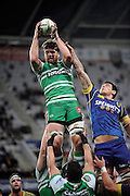 Fraser Stone in action for Manawatu in the ITM Cup Rugby Match. Otago v Manawatu at Forsyth Barr Stadium, Dunedin, New Zealand. Friday 10 October 2014. New Zealand. Photo: Richard Hood/photosport.co.nz