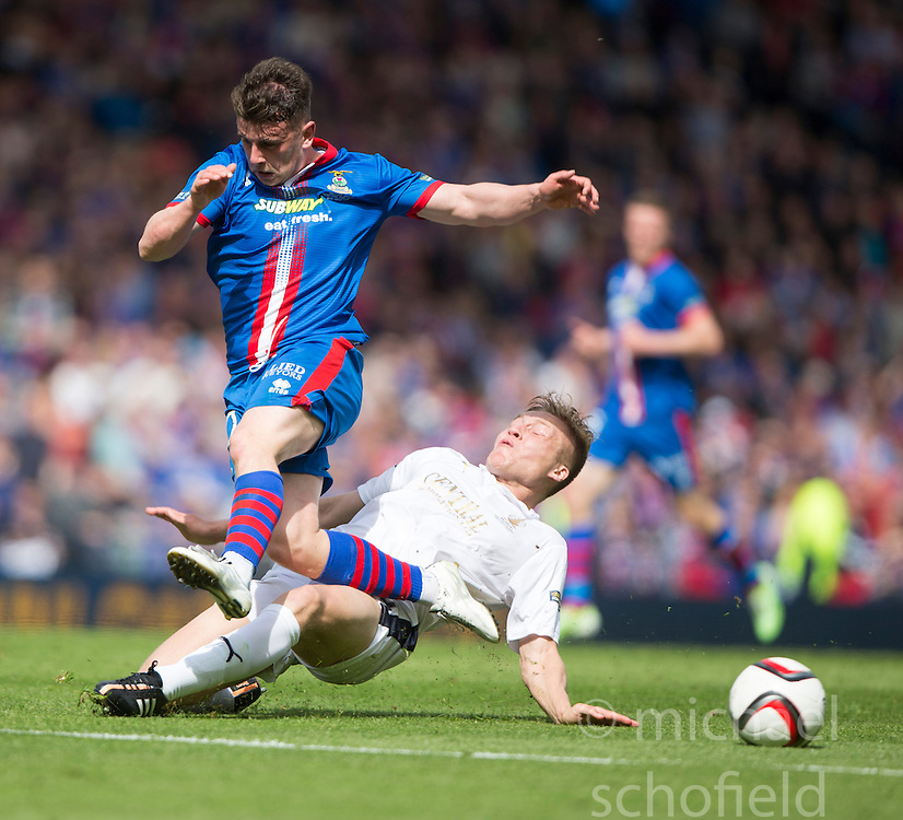 Doran and Falkirk's Grant. Falkirk v Inverness CT in the Scottish Cup final at Hampden.